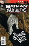Cover for Batman and the Outsiders (DC, 2007 series) #12