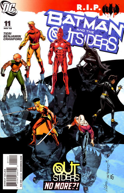 Cover for Batman and the Outsiders (DC, 2007 series) #11