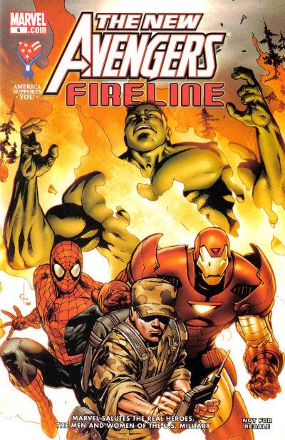 Cover for AAFES 6 [New Avengers: Fireline] (Marvel, 2008 series)