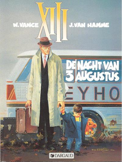 Cover for XIII (Dargaud Benelux, 1984 series) #7 - De nacht van 3 augustus
