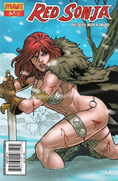 Cover for Red Sonja (Dynamite Entertainment, 2005 series) #38 [Cover A]