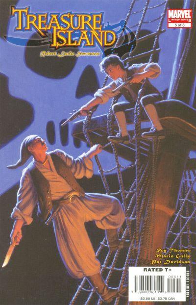 Cover for Marvel Illustrated: Treasure Island (Marvel, 2007 series) #5