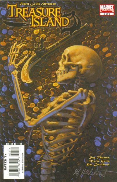 Cover for Marvel Illustrated: Treasure Island (Marvel, 2007 series) #6
