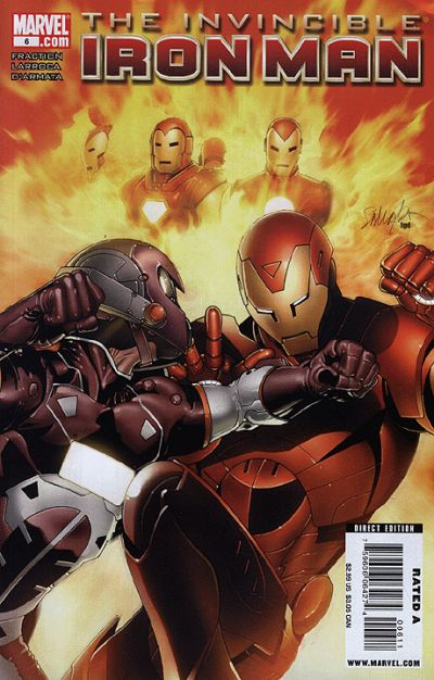 Cover for Invincible Iron Man (Marvel, 2008 series) #6 [David Aja Variant Cover]