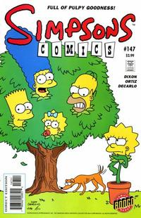 Cover for Simpsons Comics (Bongo, 1993 series) #147