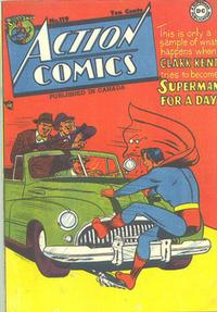 Cover Thumbnail for Action Comics (National Comics Publications of Canada Ltd, 1948 series) #119