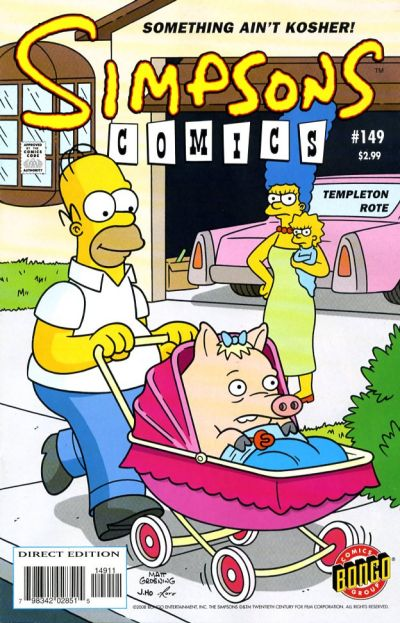 Cover for Simpsons Comics (Bongo, 1993 series) #149