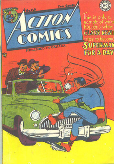 Cover for Action Comics (National Comics Publications of Canada Ltd, 1948 series) #119
