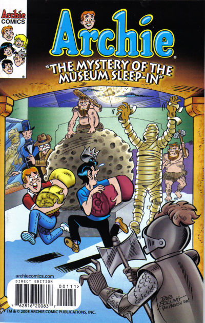 "Cover for Archie: ""The Mystery of the Museum Sleep-In"" (Archie, 2008 series) #[nn]"