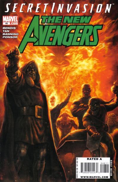Cover for New Avengers (Marvel, 2005 series) #46