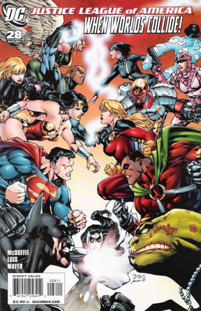 Cover for Justice League of America (DC, 2006 series) #28