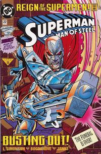 Cover Thumbnail for Superman: The Man of Steel (DC, 1991 series) #22 [Standard Edition]