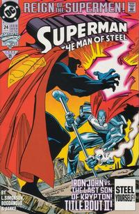 Cover Thumbnail for Superman: The Man of Steel (DC, 1991 series) #24 [Direct Edition]