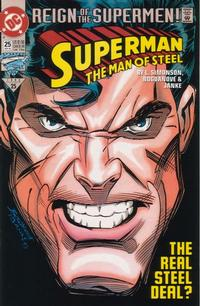 Cover Thumbnail for Superman: The Man of Steel (DC, 1991 series) #25 [Direct Edition]