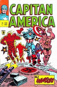 Cover Thumbnail for Capitan America (Editoriale Corno, 1973 series) #106