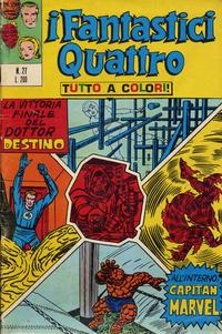Cover Thumbnail for I Fantastici Quattro (Editoriale Corno, 1971 series) #27