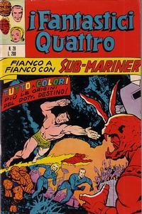 Cover Thumbnail for I Fantastici Quattro (Editoriale Corno, 1971 series) #28