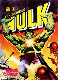 Cover Thumbnail for L'Incredibile Hulk (Editoriale Corno, 1980 series) #11