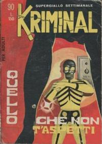 Cover Thumbnail for Kriminal (Editoriale Corno, 1964 series) #90