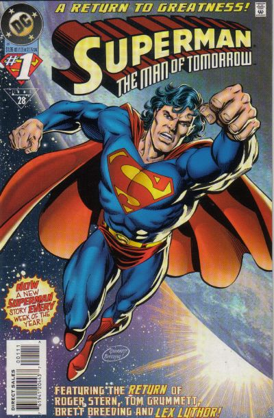 Cover for Superman: The Man of Tomorrow (DC, 1995 series) #1