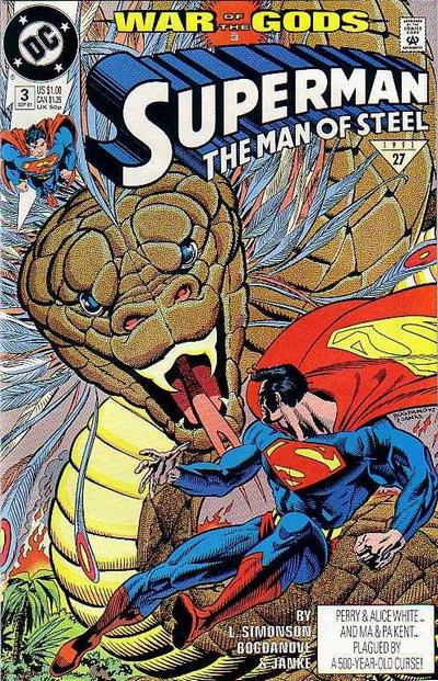 Cover for Superman: The Man of Steel (DC, 1991 series) #3