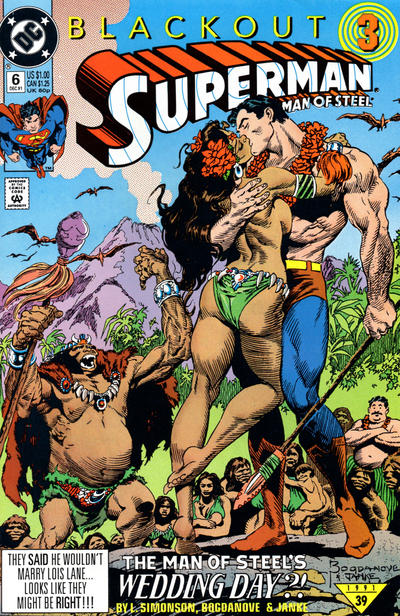 Cover for Superman: The Man of Steel (DC, 1991 series) #6