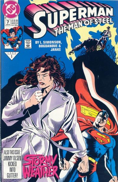 Cover for Superman: The Man of Steel (DC, 1991 series) #7
