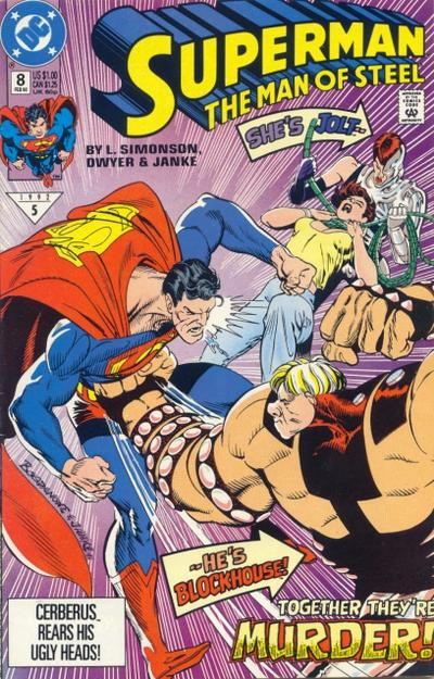 Cover for Superman: The Man of Steel (DC, 1991 series) #8