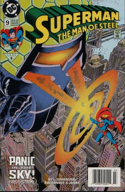 Cover for Superman: The Man of Steel (DC, 1991 series) #9