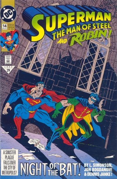 Cover for Superman: The Man of Steel (DC, 1991 series) #14