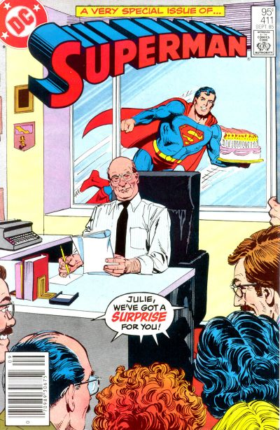 Cover for Superman (DC, 1939 series) #411 [Direct Sales]