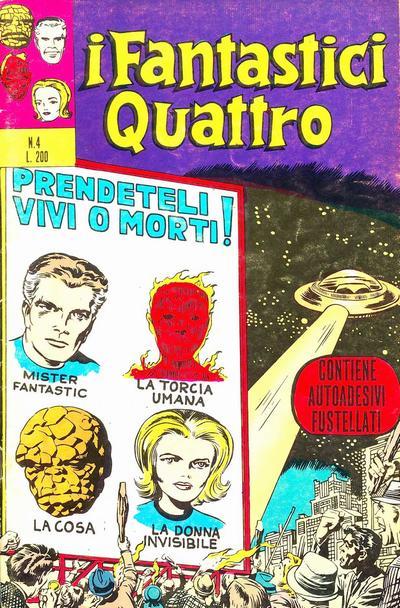 Cover for I Fantastici Quattro (Editoriale Corno, 1971 series) #4