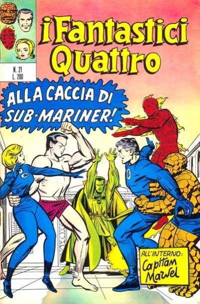 Cover for I Fantastici Quattro (Editoriale Corno, 1971 series) #21