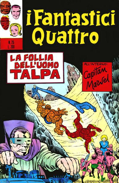 Cover for I Fantastici Quattro (Editoriale Corno, 1971 series) #25