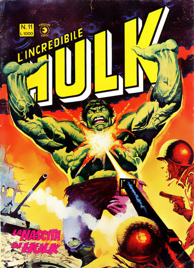 Cover for L'Incredibile Hulk (Editoriale Corno, 1980 series) #11