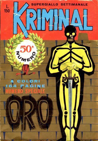 Cover for Kriminal (Editoriale Corno, 1964 series) #50