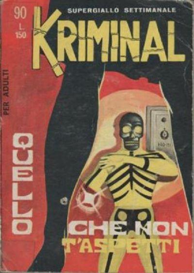 Cover for Kriminal (Editoriale Corno, 1964 series) #90