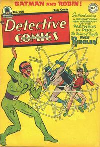 Cover Thumbnail for Detective Comics (National Comics Publications of Canada Ltd, 1948 series) #140