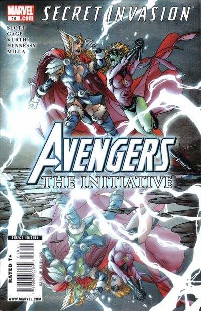 Cover for Avengers: The Initiative (Marvel, 2007 series) #18 [Limited Edition Zombie Variant]