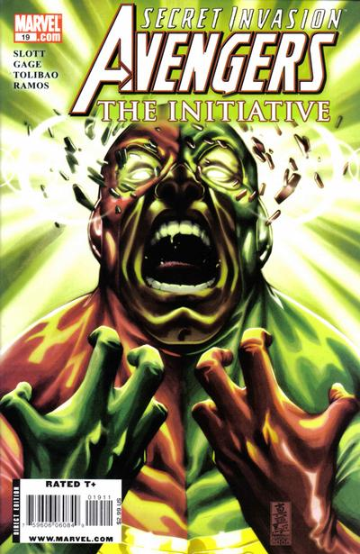 Cover for Avengers: The Initiative (Marvel, 2007 series) #19 [Newsstand]