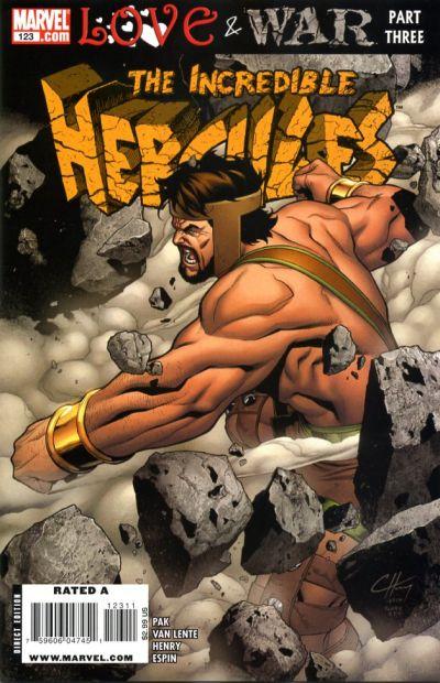 Cover for Incredible Hercules (Marvel, 2008 series) #123