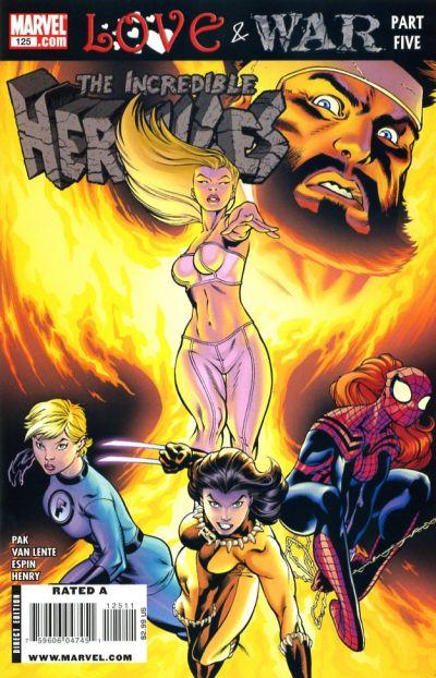 Cover for Incredible Hercules (Marvel, 2008 series) #125
