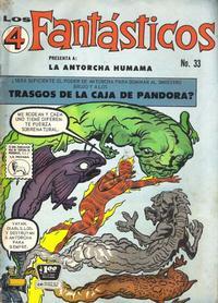Cover Thumbnail for Los 4 Fantásticos (Editora de Periódicos La Prensa S.C.L., 1962 series) #33