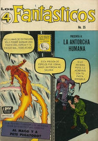 Cover Thumbnail for Los 4 Fantásticos (Editora de Periódicos La Prensa S.C.L., 1962 series) #35