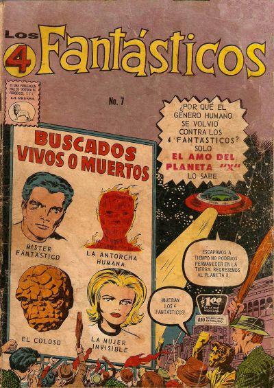 Cover for Los 4 Fantásticos (Editora de Periódicos La Prensa S.C.L., 1962 series) #7