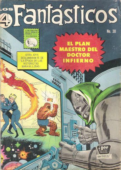 Cover for Los 4 Fantásticos (Editora de Periódicos La Prensa S.C.L., 1962 series) #30