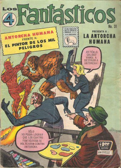Cover for Los 4 Fantásticos (Editora de Periódicos La Prensa S.C.L., 1962 series) #31