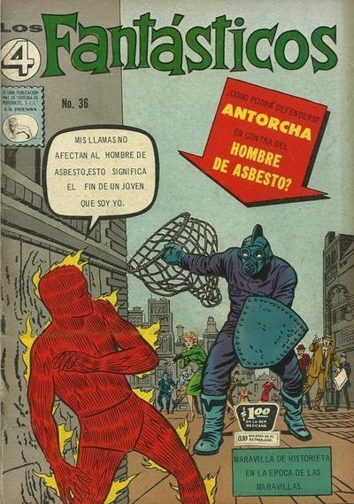Cover for Los 4 Fantásticos (Editora de Periódicos La Prensa S.C.L., 1962 series) #36
