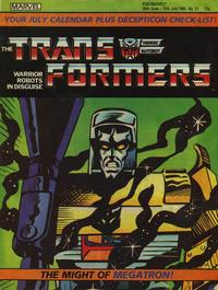 Cover Thumbnail for Transformers (Marvel UK, 1984 series) #21
