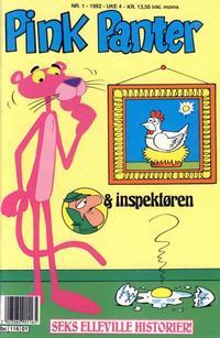 Cover Thumbnail for Pink Panter (Semic, 1977 series) #1/1992